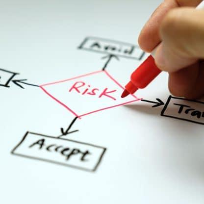 risk assessment white board graphic