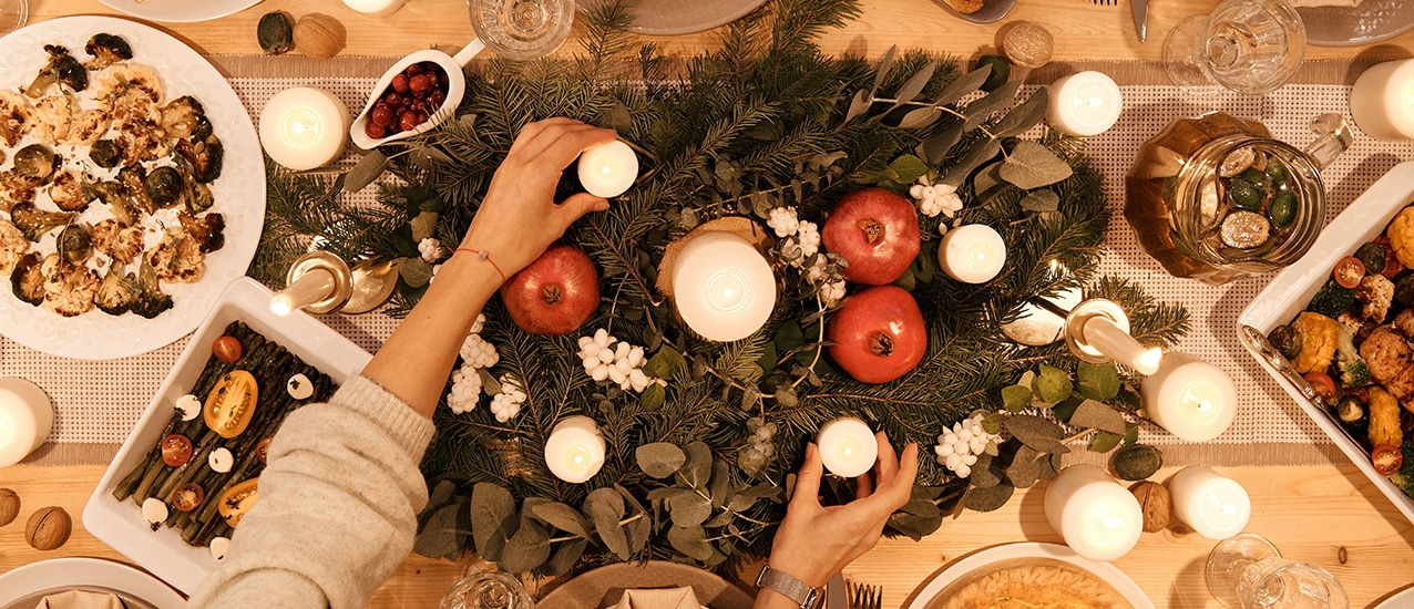 People at a table for holiday meal